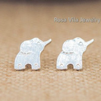 Dainty Elephant Earrings