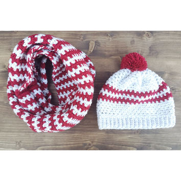 Aztec Beanie & Cowl Bundle - Custom Colors!