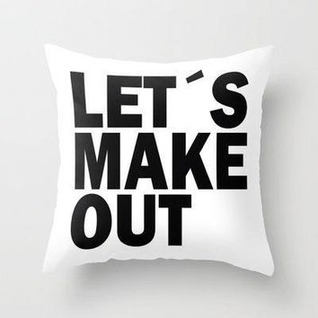 Let?s Make Out Throw Pillow By Nicklas Gustafsson | Society6