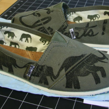 Elephant Custom TOMS Shoes