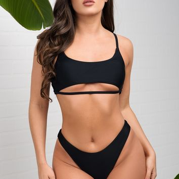 Eagle Beach Two Piece Swimsuit - Black