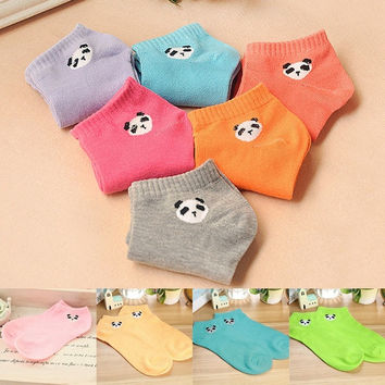 Korean Style Lovely Cartoon Panda Womens Lady Girls Socks Candy Colors Hosiery-N3 = 1958249668