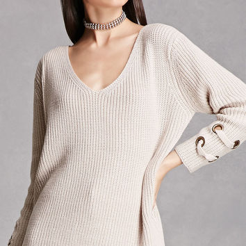 Ribbed V-Neck Sweater
