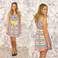Ray of Sunshine Dress in Blue