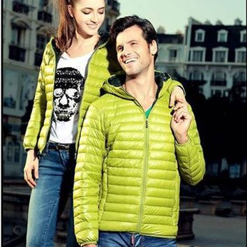 Fashion Winter Colorful Couple Coat