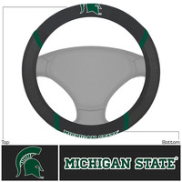 Michigan State Spartans NCAA Polyester Steering Wheel Cover