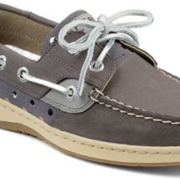 Sperry Top-Sider Bluefish Metallic Dot 2-Eye Boat Shoe Graphite/Silver, Size 8.5M  Women's Shoes