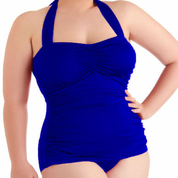Plus Size Swimwear Women One Piece Swimsuit Soft bodysuit Bathing Suit Solid Swimwear swimming suit for women