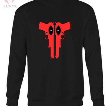 Deadpool Guns Logo Long Sweater