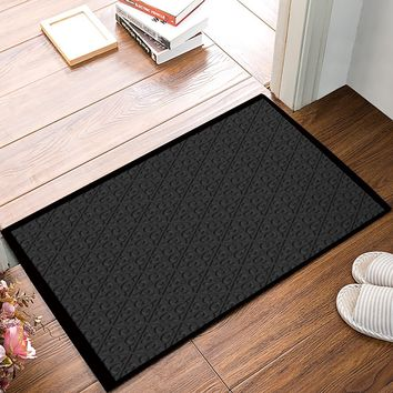 Classic Grey Geometric Pattern Door Mats Kitchen Floor Bath Entrance Rug Mat Indoor Bathroom Decor Doormats Non Slip
