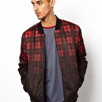 ASOS Checked Bomber Jacket