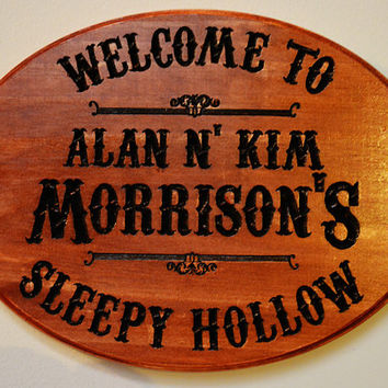 Custom Personalized Vacation Home Sign - Mountain House - Hand Painted Carved Wooden Sign - Family Name Sign - Man Cave Plaque