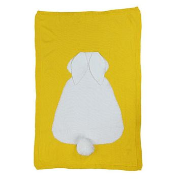 Baby Knitted Blanket Wrap Soft Bedding Blankets Newborn Big Rabbit Ear Swaddle Kids Blankets Linens Swaddling Winter Autumn