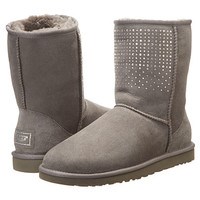 UGG Classic Short Bling Grey - Zappos.com Free Shipping BOTH Ways