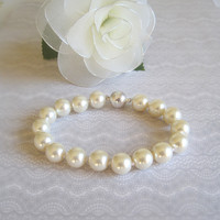 Ivory Pearl Cat Collar, Hand Knotted Cat Jewelry Collar with Magnetic Ball Clasp, Holiday Pet Gifts, Wedding Cat Collar
