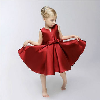Children Prom Dress V-neck Princess Dress [4919226244]