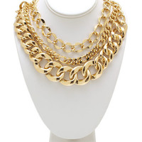 No-Chain-No-Gain-Necklace-Set GOLD - GoJane.com