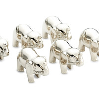 Silver-Plated Elephant Place Cards, Set of 6, Placecard Holders