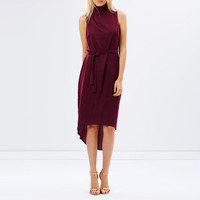 Casual Sleeveless Tie Waist Midi Dress LAVELIQ