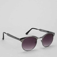 Metal Club Round Sunglasses- Silver One Size- Silver One