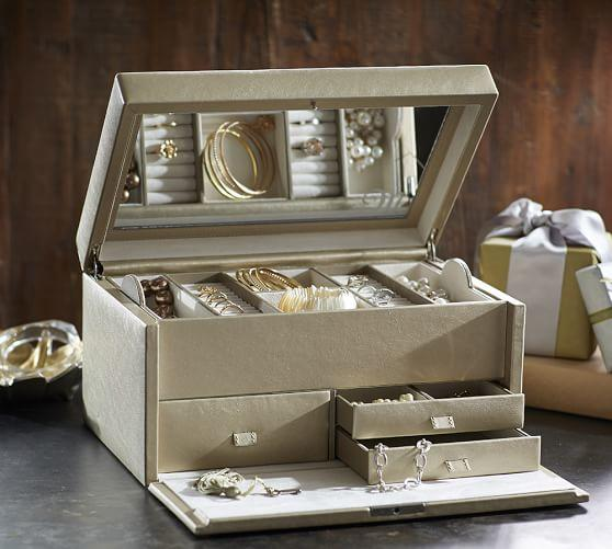 Mckenna Leather Large Jewelry Box From Pottery Barn Epic