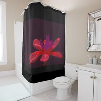 unknown, beautiful flower, shower curtain