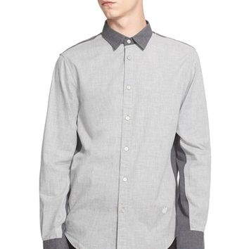 Men's rag & bone 'Paneled Stock' Trim Fit Colorblock Shirt,