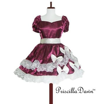 Custom in your size Rasberry Cream Dream Teaparty by priscilladawn