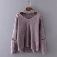 Autumn and winter new sexy V-neck sweater high quality