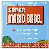 Classic Super Mario Start Screen Ceramic Coasters Vibrant Colors High Gloss Finish