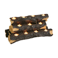 Flickering Tealight Fire Logs
