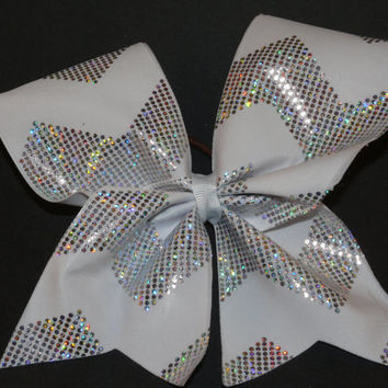 Sparkle Chevron Cheer Bow