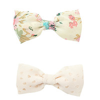 Perforated Hair Bow Set