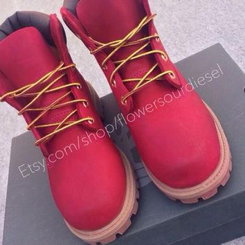 Red Timberland Boots (Mens Sizes)