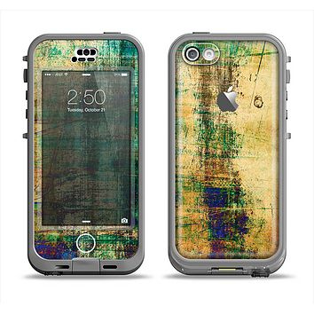 The Grungy Scratched Surface V3 Apple iPhone 5c LifeProof Nuud Case Skin Set