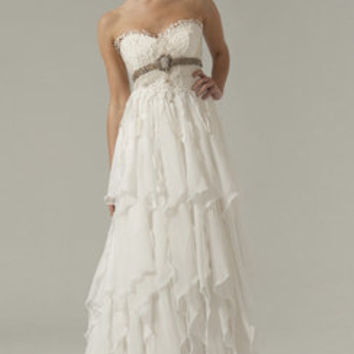 Awesome Empire Waistline Tiered Wedding Dress