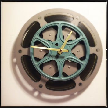 Film Wall Clock Film Reel Wall Clock Media Room Clock