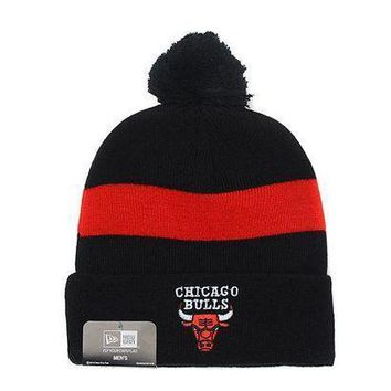 Chicago Bulls Beanies New Era Nba Hat Black