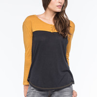 VOLCOM Block It Womens Henley | Raglans & L/S Tees