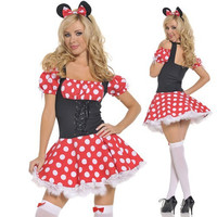 Minnie Mouse Dress Adult Halloween Costume Minnie Mouse Costume for Women Cosplay