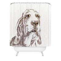 Belle13 Basset Hound Shower Curtain