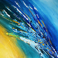 ART Collections Large Canvas ORIGINAL Astract Acrylic Painting Modern Contemporary Fine Art Gallery Shooting STAR By Kathleen Artist Pro