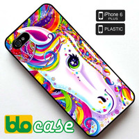 Lisa Frank Majesty The Rainbow Horse Iphone 6 Plus Plastic Case