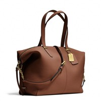 BLEECKER COOPER SATCHEL IN PEBBLED LEATHER