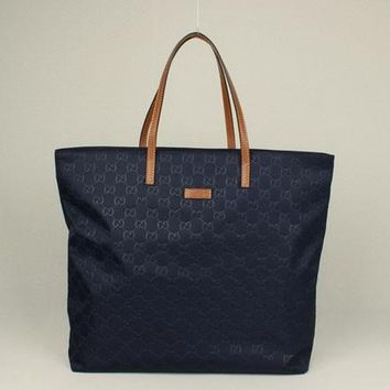 Gucci Tote bags 295252 Ladies HandBags Blue Cow Leather