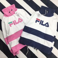 FILA PINK WHITE CONTRAST casual ladies wear F-HYLFZC