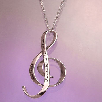 The Food Of Love Sterling Silver