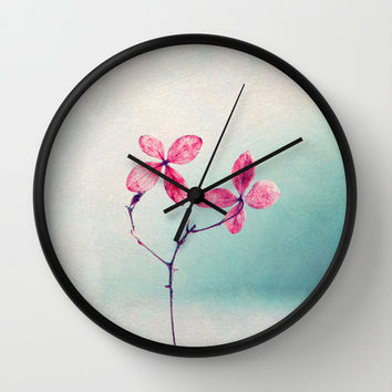 pretty Wall Clock by Claudia Drossert