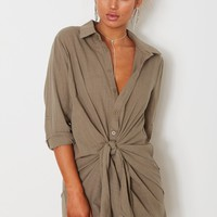 Marrakesh Dress Dusty Khaki