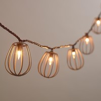 Rustic Wire Cage 10-Bulb String Lights